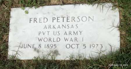 PETERSON (VETERAN WWI), FRED - Arkansas County, Arkansas | FRED PETERSON (VETERAN WWI) - Arkansas Gravestone Photos