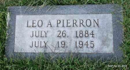 PIERRON, LEO A - Arkansas County, Arkansas   LEO A PIERRON - Arkansas Gravestone Photos