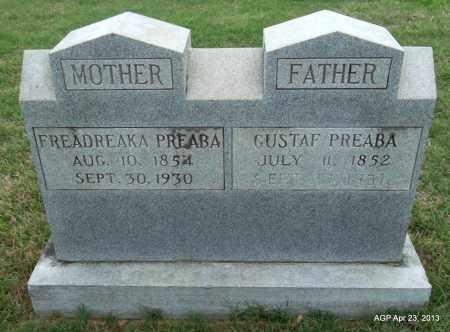 PREABA, GUSTAF - Arkansas County, Arkansas | GUSTAF PREABA - Arkansas Gravestone Photos