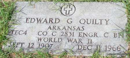 QUILTY (VETERAN WWII), EDWARD G - Arkansas County, Arkansas   EDWARD G QUILTY (VETERAN WWII) - Arkansas Gravestone Photos