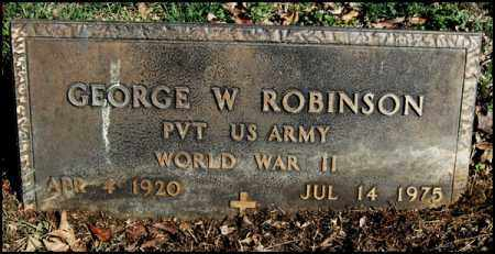 ROBINSON (VETERAN WWII), GEORGE W - Arkansas County, Arkansas | GEORGE W ROBINSON (VETERAN WWII) - Arkansas Gravestone Photos