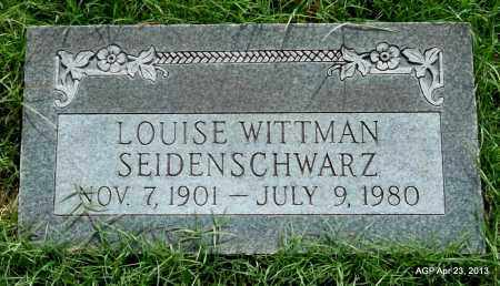 WITTMAN SEIDENSCHWARZ, LOUISE - Arkansas County, Arkansas | LOUISE WITTMAN SEIDENSCHWARZ - Arkansas Gravestone Photos