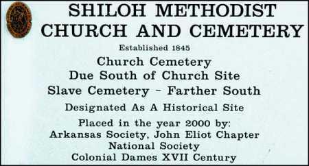 SHILOH, CHURCH SIGN - Arkansas County, Arkansas | CHURCH SIGN SHILOH - Arkansas Gravestone Photos