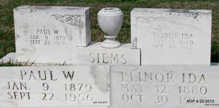 SIEMS, ELINOR IDA - Arkansas County, Arkansas | ELINOR IDA SIEMS - Arkansas Gravestone Photos