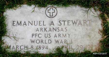 STEWART (VETERAN WWI), EMANUEL A - Arkansas County, Arkansas | EMANUEL A STEWART (VETERAN WWI) - Arkansas Gravestone Photos