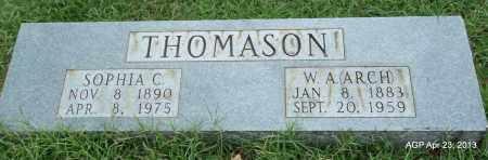 "THOMASON, W A ""ARCH"" - Arkansas County, Arkansas | W A ""ARCH"" THOMASON - Arkansas Gravestone Photos"