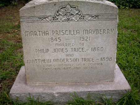 TRICE, MARTHA PRISCILLA - Arkansas County, Arkansas | MARTHA PRISCILLA TRICE - Arkansas Gravestone Photos