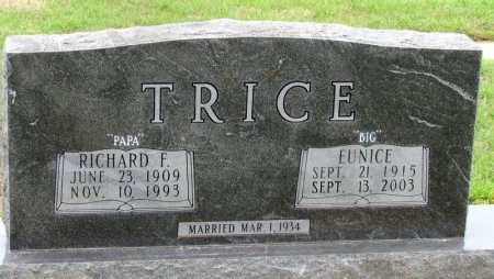 TRICE, EUNICE - Arkansas County, Arkansas | EUNICE TRICE - Arkansas Gravestone Photos