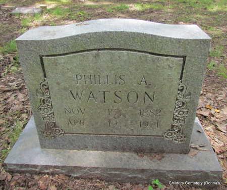 VASSEAU WATSON, PHILLIS A - Arkansas County, Arkansas | PHILLIS A VASSEAU WATSON - Arkansas Gravestone Photos