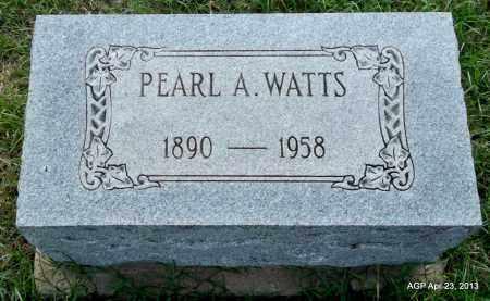 WATTS, PEARL A - Arkansas County, Arkansas | PEARL A WATTS - Arkansas Gravestone Photos