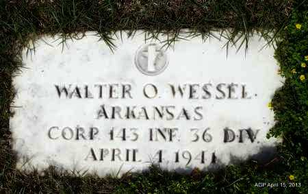 WESSEL (VETERAN WWII), WALTER O - Arkansas County, Arkansas | WALTER O WESSEL (VETERAN WWII) - Arkansas Gravestone Photos