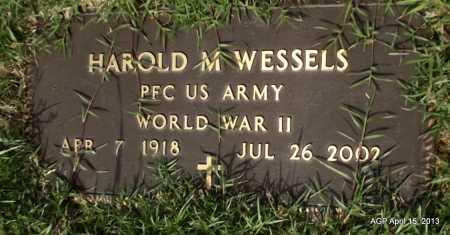 WESSELS (VETERAN WWII), HAROLD M - Arkansas County, Arkansas | HAROLD M WESSELS (VETERAN WWII) - Arkansas Gravestone Photos
