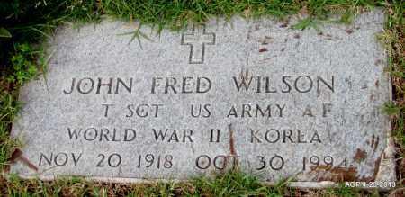 WILSON (VETERAN 2 WARS), JOHN FRED - Arkansas County, Arkansas | JOHN FRED WILSON (VETERAN 2 WARS) - Arkansas Gravestone Photos