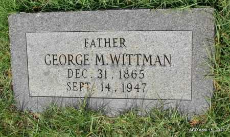 WITTMAN, GEORGE M - Arkansas County, Arkansas | GEORGE M WITTMAN - Arkansas Gravestone Photos
