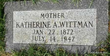 WITTMAN, KATHERINE A - Arkansas County, Arkansas | KATHERINE A WITTMAN - Arkansas Gravestone Photos