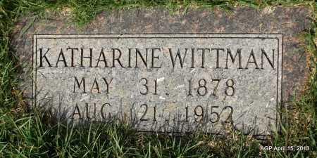 WITTMAN, KATHERINE - Arkansas County, Arkansas | KATHERINE WITTMAN - Arkansas Gravestone Photos