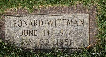 WITTMAN, LEONARD - Arkansas County, Arkansas | LEONARD WITTMAN - Arkansas Gravestone Photos