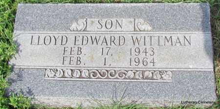 WITTMAN, LLOYD EDWARD - Arkansas County, Arkansas | LLOYD EDWARD WITTMAN - Arkansas Gravestone Photos