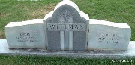 WITTMAN, BARBARA - Arkansas County, Arkansas | BARBARA WITTMAN - Arkansas Gravestone Photos