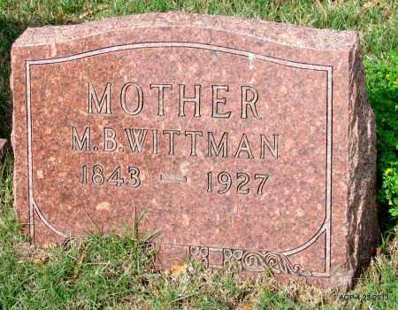 WITTMAN, M B - Arkansas County, Arkansas   M B WITTMAN - Arkansas Gravestone Photos