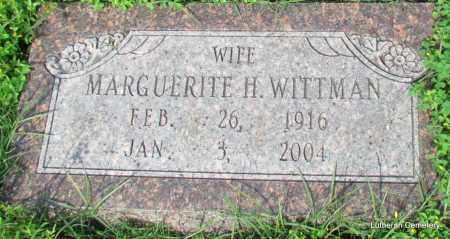WITTMAN, MARGUERITE H - Arkansas County, Arkansas | MARGUERITE H WITTMAN - Arkansas Gravestone Photos
