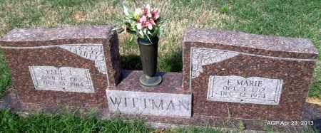 WITTMAN, PAUL L - Arkansas County, Arkansas | PAUL L WITTMAN - Arkansas Gravestone Photos