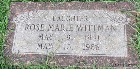 WITTMAN, ROSE MARIE - Arkansas County, Arkansas | ROSE MARIE WITTMAN - Arkansas Gravestone Photos