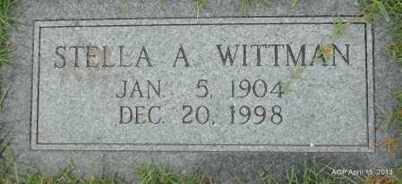 WITTMAN, STELLA A - Arkansas County, Arkansas | STELLA A WITTMAN - Arkansas Gravestone Photos