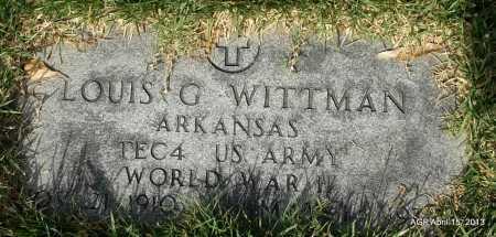 WITTMAN (VETERAN WWII), LOUIS G - Arkansas County, Arkansas | LOUIS G WITTMAN (VETERAN WWII) - Arkansas Gravestone Photos