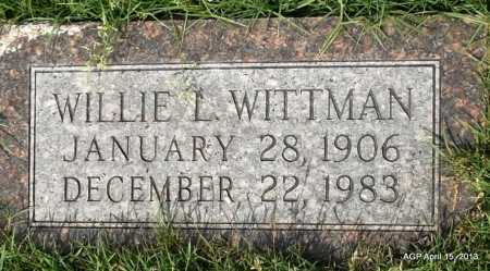 WITTMAN, WILLIE L - Arkansas County, Arkansas | WILLIE L WITTMAN - Arkansas Gravestone Photos
