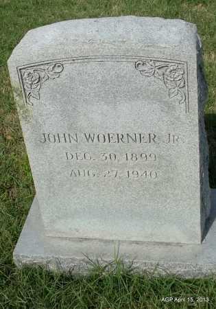 WOERNER, JR, JOH - Arkansas County, Arkansas | JOH WOERNER, JR - Arkansas Gravestone Photos