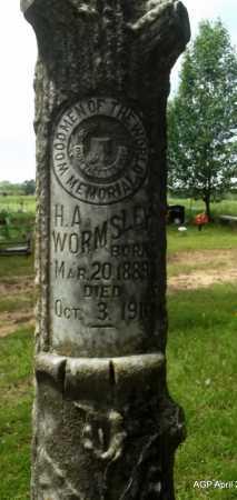 WORMSLEY, H A (CLOSE UP) - Arkansas County, Arkansas | H A (CLOSE UP) WORMSLEY - Arkansas Gravestone Photos