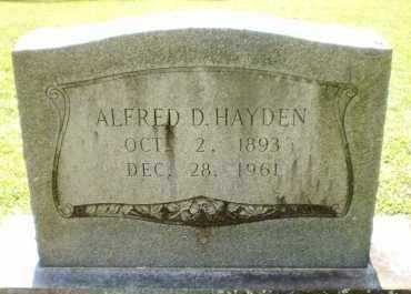 HAYDEN, ALFRED D - Ashley County, Arkansas | ALFRED D HAYDEN - Arkansas Gravestone Photos