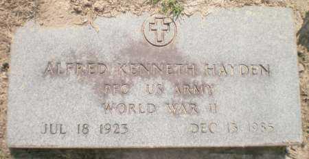 HAYDEN ( VETERAN WWII), ALFRED KENNETH - Ashley County, Arkansas | ALFRED KENNETH HAYDEN ( VETERAN WWII) - Arkansas Gravestone Photos