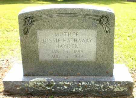 HATHAWAY HAYDEN, JOSIE - Ashley County, Arkansas | JOSIE HATHAWAY HAYDEN - Arkansas Gravestone Photos
