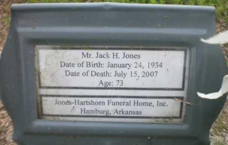 JONES, JACK H - Ashley County, Arkansas | JACK H JONES - Arkansas Gravestone Photos