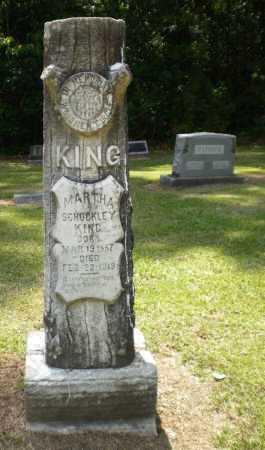 SCHOCKLEY  KING, MARTHA - Ashley County, Arkansas | MARTHA SCHOCKLEY  KING - Arkansas Gravestone Photos