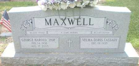 "MAXWELL, GEORGE HAROLD ""POP"" - Ashley County, Arkansas   GEORGE HAROLD ""POP"" MAXWELL - Arkansas Gravestone Photos"