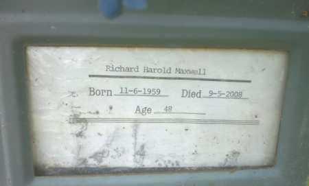 MAXWELL, RICHARD HAROLD - Ashley County, Arkansas | RICHARD HAROLD MAXWELL - Arkansas Gravestone Photos