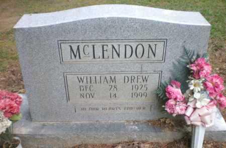 MCLENDON (VETERAN WWII), WILLIAM DREW - Ashley County, Arkansas | WILLIAM DREW MCLENDON (VETERAN WWII) - Arkansas Gravestone Photos