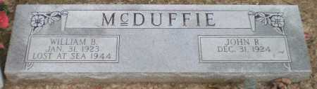 MCDUFFIE, WILLIAM B. (CENOTAPH, ) - Ashley County, Arkansas | WILLIAM B. (CENOTAPH, ) MCDUFFIE - Arkansas Gravestone Photos