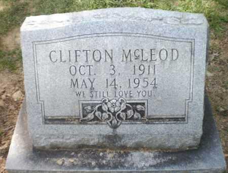 MCLEOD, CLIFTON - Ashley County, Arkansas   CLIFTON MCLEOD - Arkansas Gravestone Photos