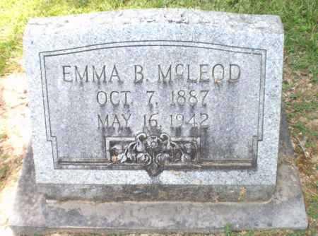 MCLEOD, EMMA B - Ashley County, Arkansas | EMMA B MCLEOD - Arkansas Gravestone Photos