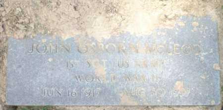 MCLEOD (VETERAN WWII), JOHN OSBURN - Ashley County, Arkansas | JOHN OSBURN MCLEOD (VETERAN WWII) - Arkansas Gravestone Photos