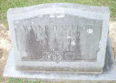 MCLEOD, WAYNE D - Ashley County, Arkansas | WAYNE D MCLEOD - Arkansas Gravestone Photos