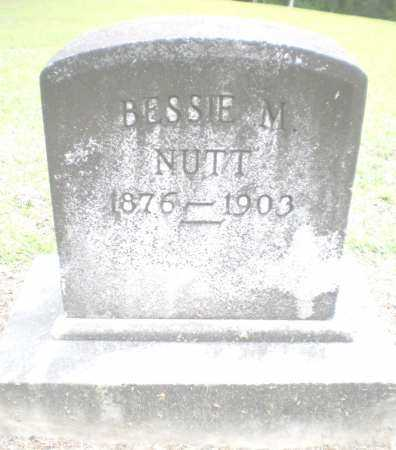 NUTT, BESSIE M - Ashley County, Arkansas | BESSIE M NUTT - Arkansas Gravestone Photos
