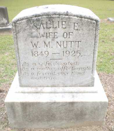 NUTT, SALLIE  E - Ashley County, Arkansas | SALLIE  E NUTT - Arkansas Gravestone Photos