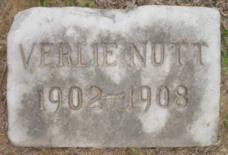 NUTT, VERLIE - Ashley County, Arkansas   VERLIE NUTT - Arkansas Gravestone Photos