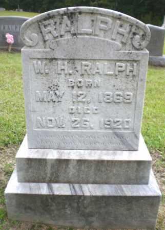 RALPH, W H - Ashley County, Arkansas   W H RALPH - Arkansas Gravestone Photos