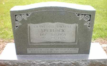 SPURLOCK, CRAWFORD DWAYNE - Ashley County, Arkansas | CRAWFORD DWAYNE SPURLOCK - Arkansas Gravestone Photos